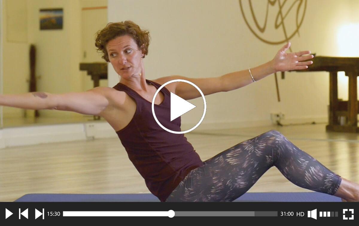 """Videopaket mit 4 Videos: """"Mit Pilates durch den Körper"""""""